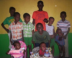 Ten of the 13 orphans taken in by the IAAC, which <br>the College is supporting with fundraising efforts