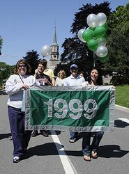 The Class of 1999 marches in the Parade of Classes.