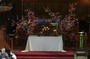 Cherry blossoms cut from the Arboretum decorate the altar.<em><span style=font-size:9pt;>&nbsp;Credit: Barb Nagy</span></em>