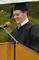 Nicholas Downing, senior class president, speaks to the crowd.<em><span style=font-size:9pt;>&nbsp;Credit: Jon Crispin</span></em>