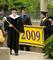 Eugene Gallagher, the acting college marshal and the Rosemary Park Professor of Religious Studies, leads the seniors during the processional. Behind him are senior marshals, Tyler Dunham (left) and Keith Farrell.<em><span style=font-size:9pt;>&nbsp;Credit: Jon Crispin</span></em>