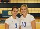 Volleyball co-captains Lauren Wise (left) and Meg Christman pose for a photo. Wise recently buried her 1,000th kill versus Bates, becoming only the second Camel to eclipse 1,000 kills and digs.<em><span style=font-size:9pt;>&nbsp;Credit: Will Tomasian</span></em>