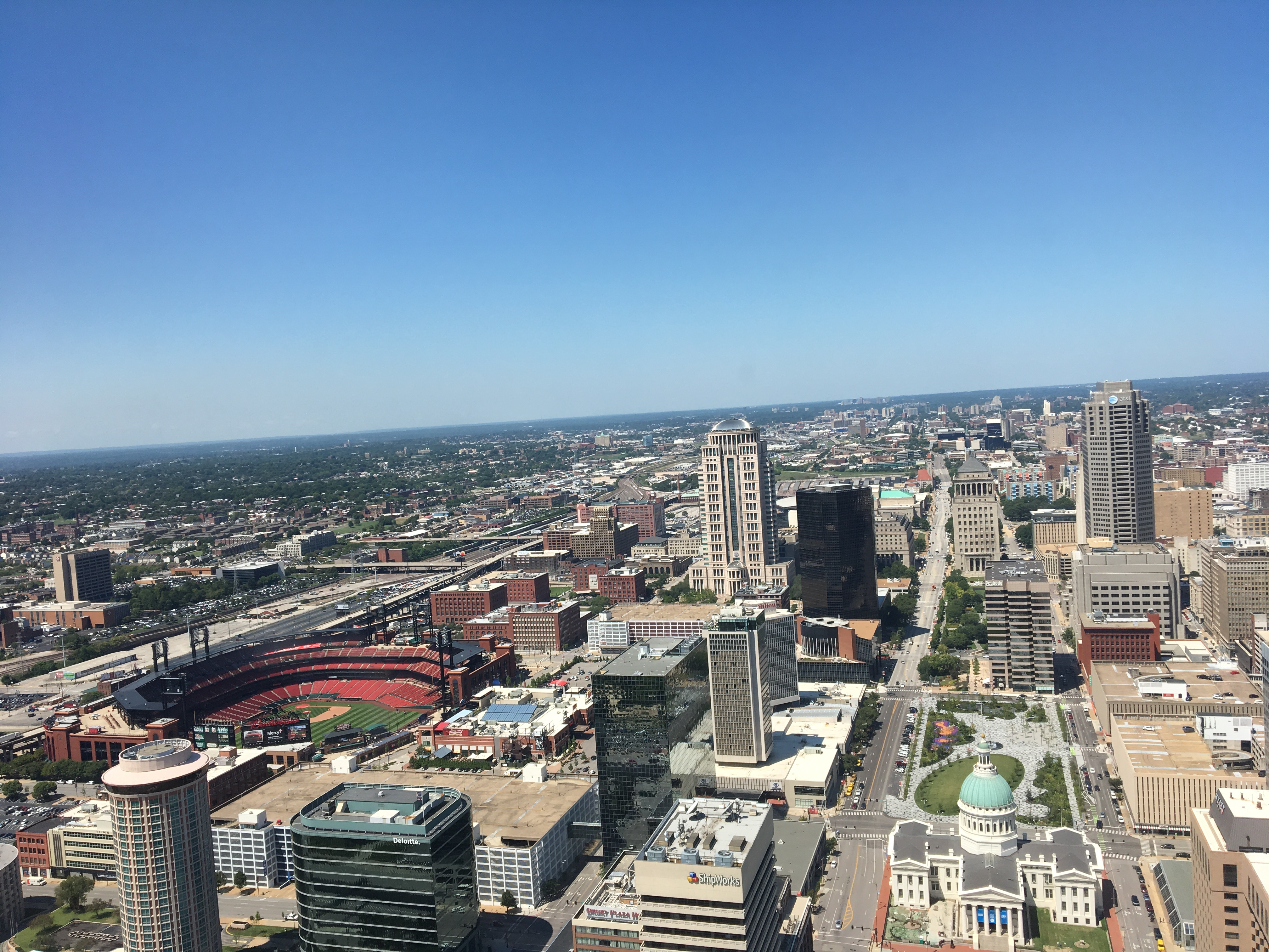 A view from the top of the Saint Louis Gateway