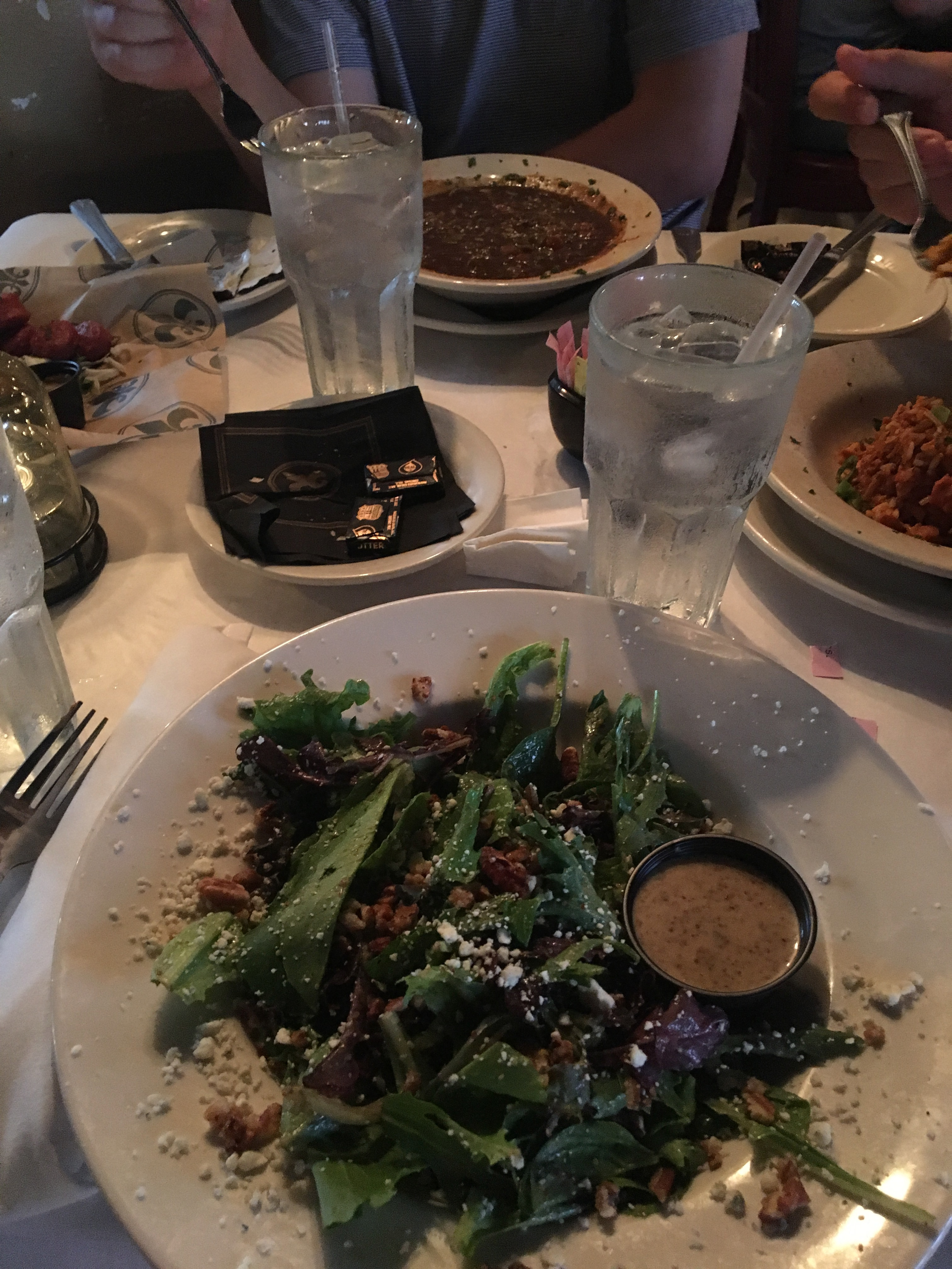 A photo of our feast at the New Orleans Creole Cookery.