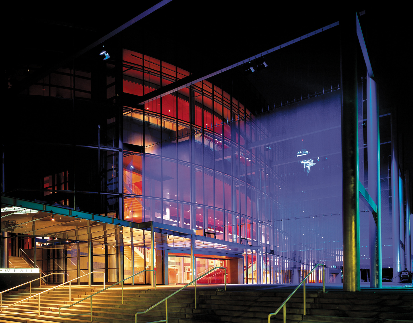 Exterior of Marion Oliver McCaw Hall, Seattle, Washington.