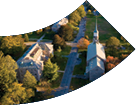 Aerial view of Connecticut College
