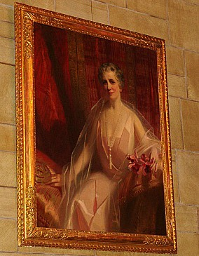 The official portrait of Mary Harkness, which hangs in Harkness Chapel.