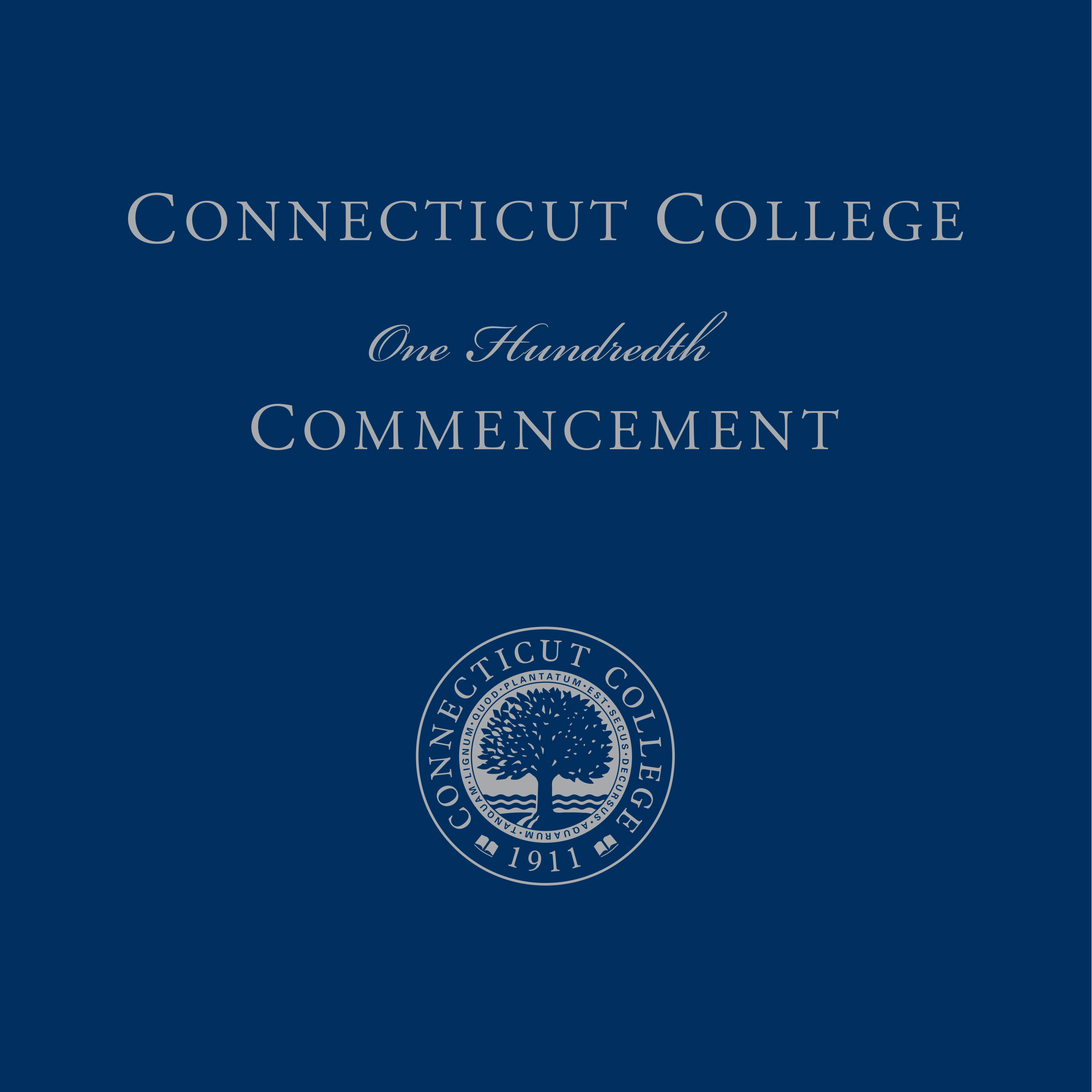 Connecticut College One Hundredth Commencement Program Cover