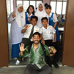 Karam Sethi '12 taught English in one of Malaysia's Muslim provinces and called the interaction with students