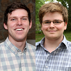 Leland Sidle '15, left, and Rick Hogoboom '15 have been awarded U.S. Fulbright Student Program grants to teach abroad.