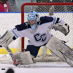 Kelsie Fralick '15, who led the NESCAC in saves, is one of 68 scholar-athletes from Connecticut College to earn all-academic honors from the league.