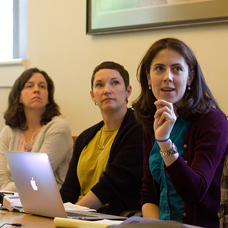 Members of the faculty participate in a workshop through the CTL