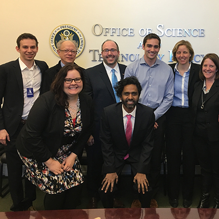Justin Koufopoulos '10 with other Presidential Innovation Fellows