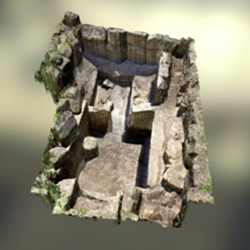 3d model of an etruscan tomb in orvieto italy