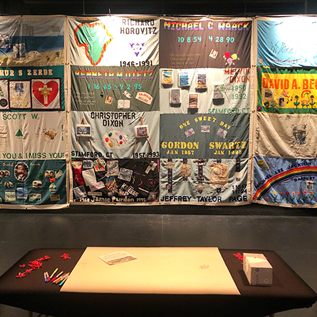 The AIDS Memorial Quilt is on display in Tansil Theater through Dec. 2.