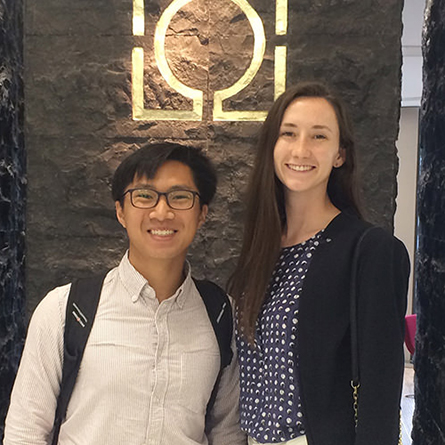 As rising seniors, East Asian studies majors Nam Hoang and Alexandra McDevitt interned with Zhicheng Public Interest Law in Beijing, China, which offers free legal representation to marginalized groups. The new Foreign Language Internship Program will increase the number of students pursuing global internships.