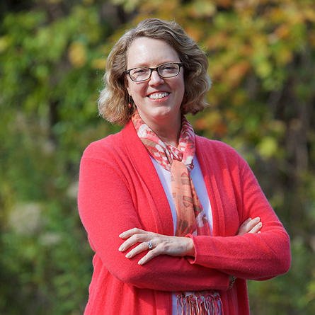Kay Carlson '88, president and chief executive officer of the Nature Center at Shaker Lakes.