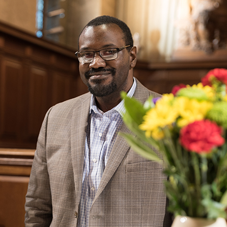 "Jason Jordan, assistant professor of history at the University of New Haven, gave the keynote address at ""Out of the Shadows: Recognizing the Communities that Paved the Way for the Reverend Dr. Martin Luther King Jr."""