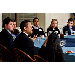 During an April 2011 visit to campus, Jonathan McBride '92 discussed his career trajectory from Connecticut College to the White House.