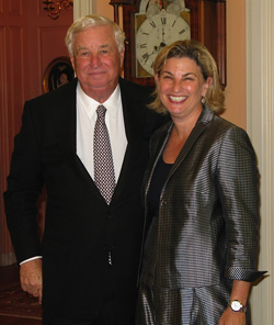Ambassador Susman with his daughter Sally Susman '84, executive vice president of Pfizer Inc.