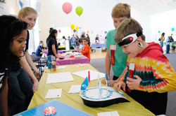 Local children learn about neuroscience through hands-on activities