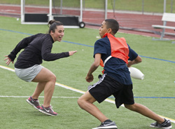 Brigida Palatino '12 encourages kids to make healthy choices by volunteering for Project KBA.