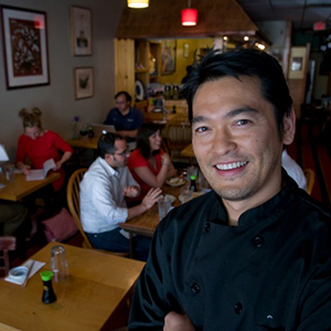 Bun Lai, chef and owner of Miya's Sushi.