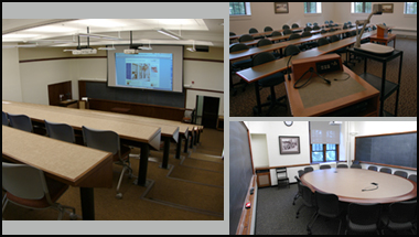 Examples of an auditorium, a lecture and a seminar room.